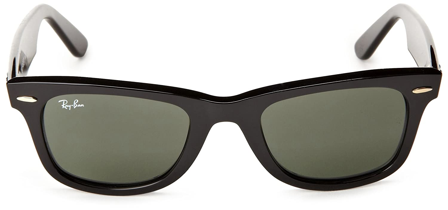 ray ban polarized original wayfarer  amazon: ray ban wayfarer black frame crystal green lenses 54mm non polarized: ray ban: clothing