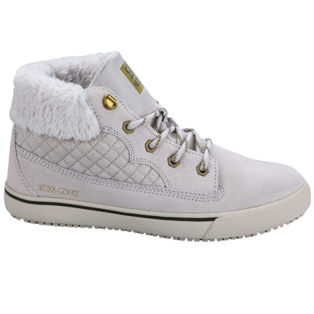 adidas Hi-Tops - Selena Gomez Taiga Shoes - Pearl Grey -