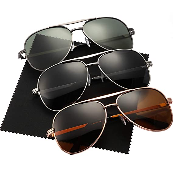 3 pares de gafas de sol tipo aviador para hombres gafas de ...