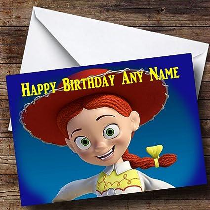 Placa personalizable en inglés para Toy Story Jessie ...