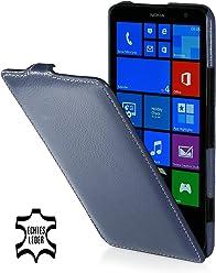 StilGut UltraSlim Case, custodia in vera pelle per Nokia Lumia 1320, blu notte