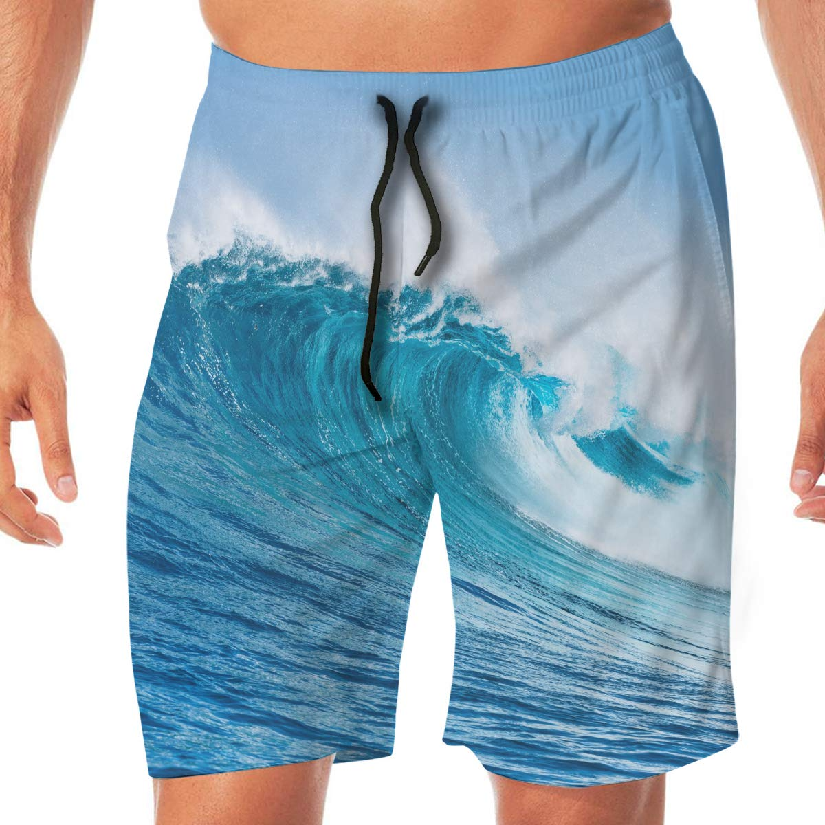 Ocean Surface Wave Mens Beach Shorts Chic Board Pants Adult Surf Beach Trunks Home Leisure Trousers