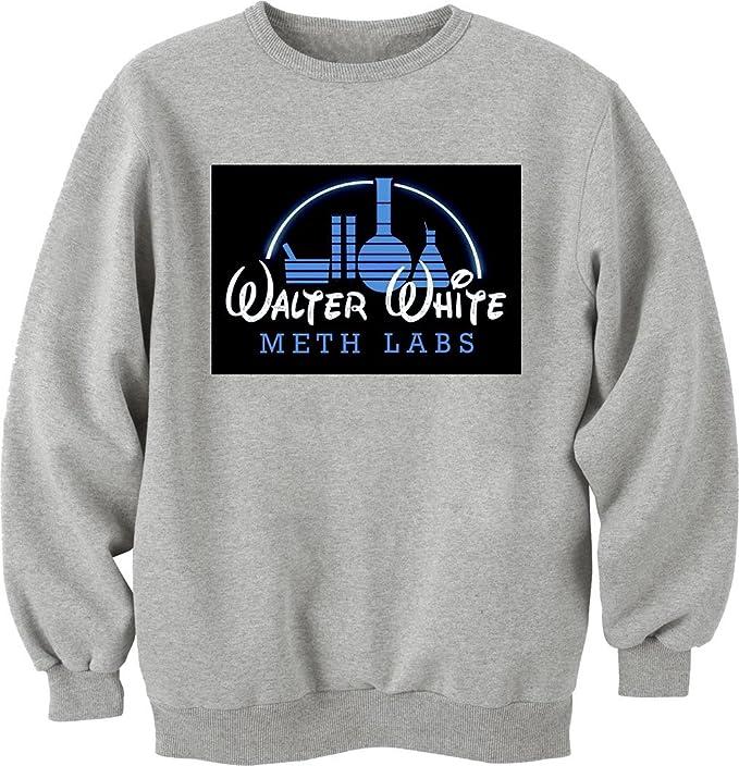 Breaking Bad Walter White Disney Labs Unisex Crewneck-Sudadera gris XXL: Amazon.es: Ropa y accesorios
