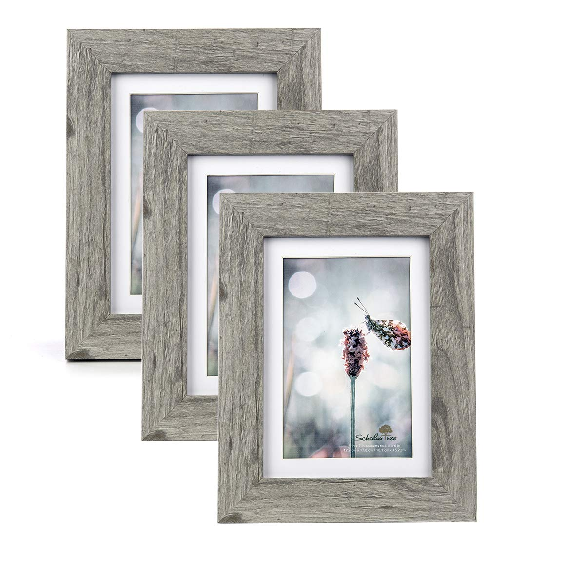 Scholartree Wooden Photo Picture Frame 5x7 3P 8x10 2P 11x14 2P (Style 2, 5x7 inches 3P) by Scholartree (Image #2)