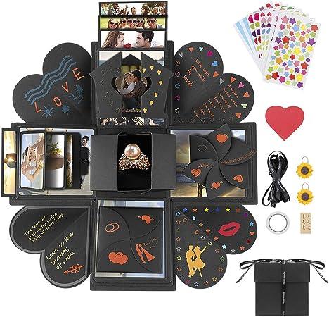 Jooheli - Caja de Regalo de explosión, Caja Sorpresa, álbum de Fotos Plegable y Libro de Recortes