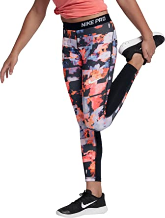 9491d84d08a5 Amazon.com: NIKE Girls' Pro Tights: Clothing