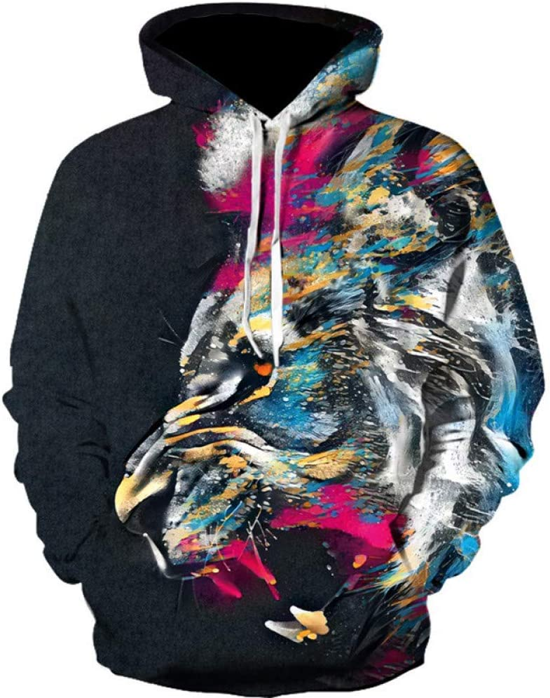 BAI Aassdd Mode 3D Sweatshirt Männer Langarm Lustige Hoody Sweatshirts 3D Print Sweatshirt Hoodies Männer Streetwear Kleidung Hip Hop,** L ** L