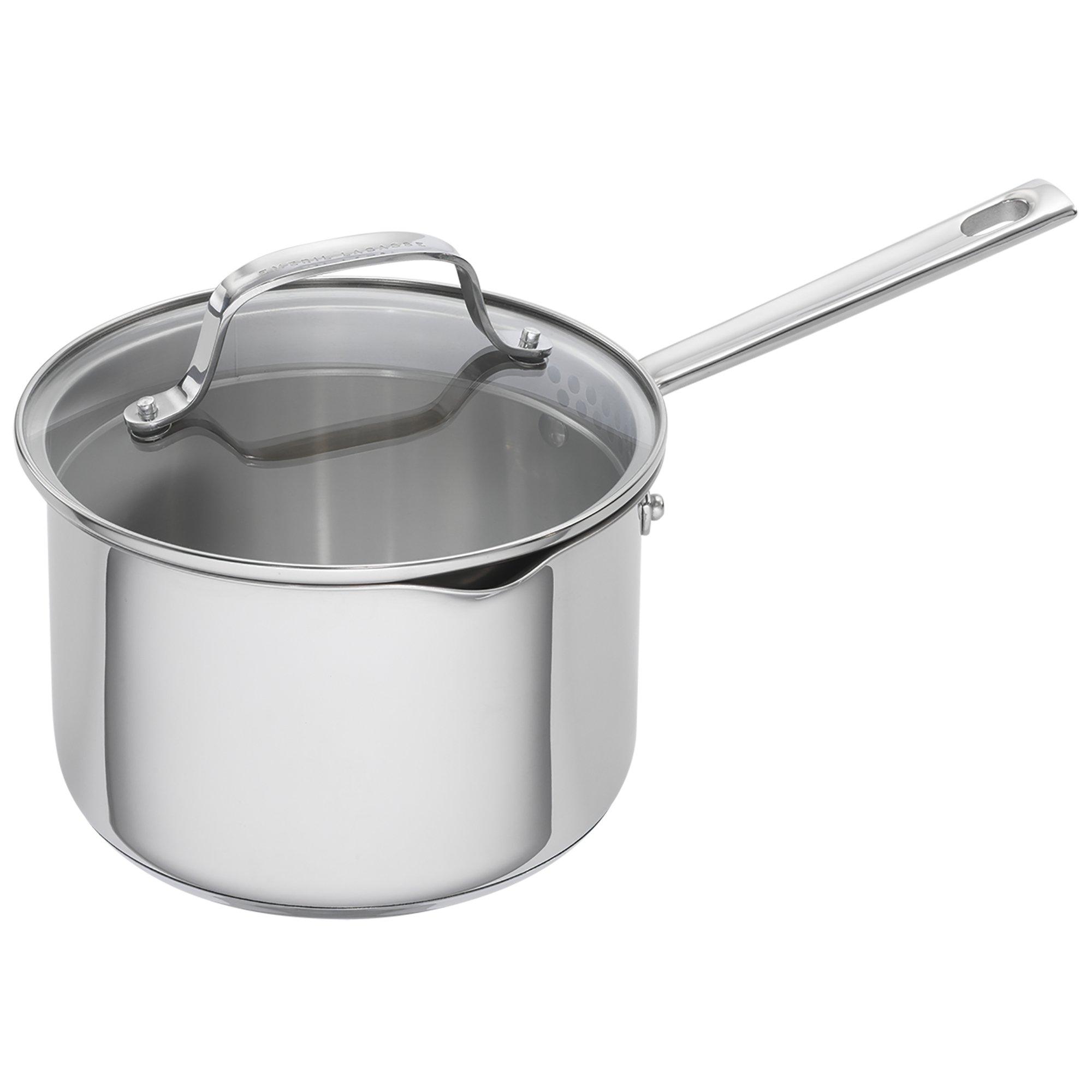 Emeril Lagasse 62956 Stainless Steel Saucepan, 3-Quart, Silver