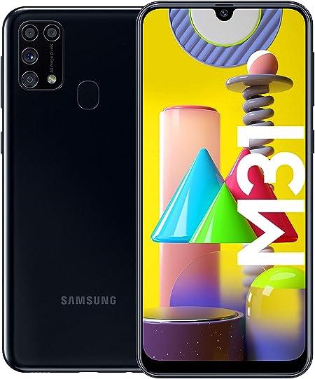 Samsung Galaxy M31 Smartphone (15.92 cm / 6.4 Inches, 64 GB Internal Memory, 6 GB RAM, Android, German Version, Black