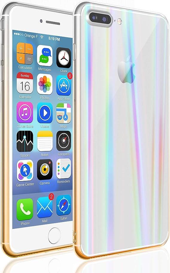 COVER per Iphone 7 8 / Plus ORIGINALE Gradient Glass con RETRO