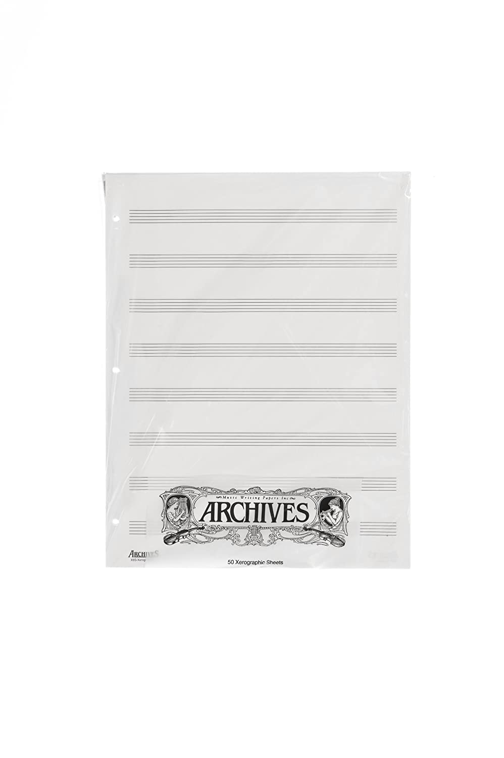 Archives Looseleaf Xerographic Manuscript Paper, 8 Stave, 50 Pages D'Addario &Co. Inc X8S