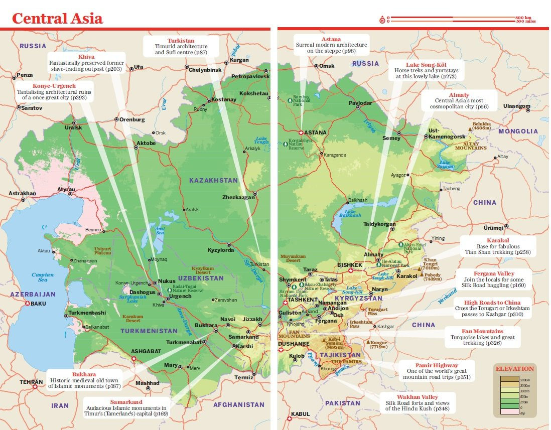Lonely Planet Central Asia Travel Guide Lonely Planet Bradley - Georgia map lonely planet
