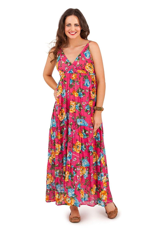 9c47f3f5ff6e Lora Dora Womens V Neck Summer Dress Floral or Animal Print: Amazon.co.uk:  Clothing
