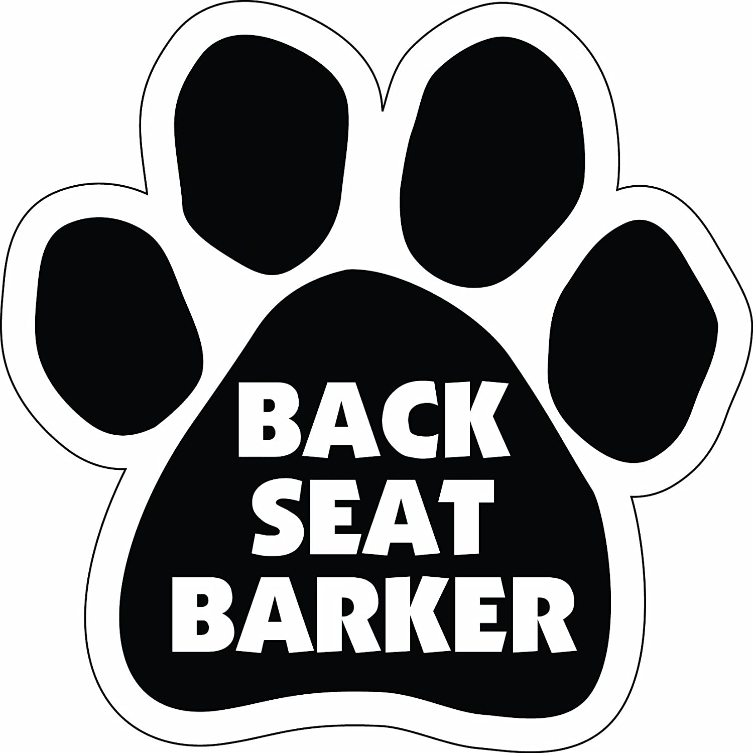 Imagine This Paw Car Magnet, Back Seat Barker, 5-1 2-Inch by 5-1 2-Inch