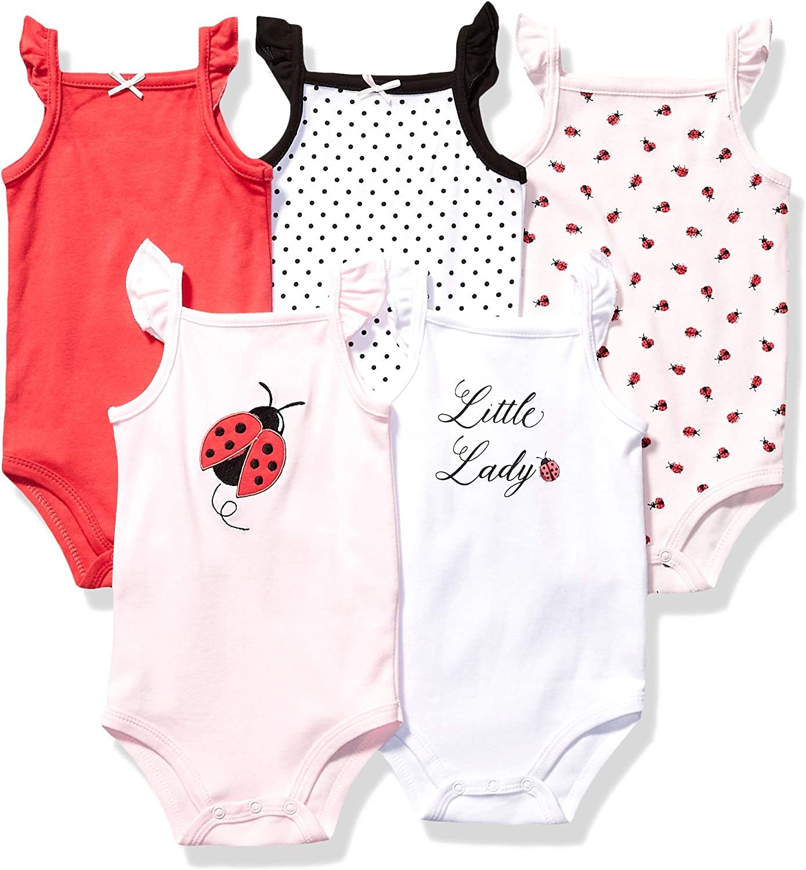 Hudson baby Unisex-Baby Sleeveless Bodysuits T-Shirt Set