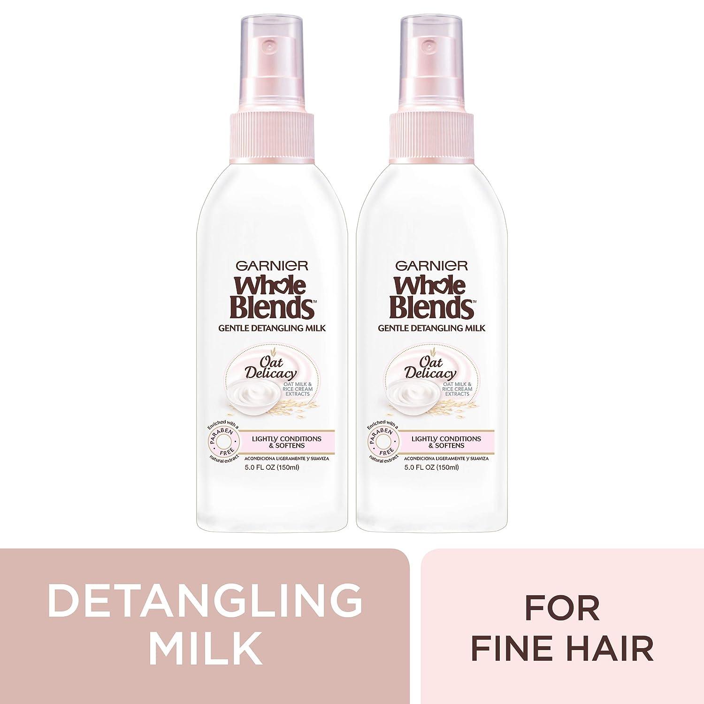 Garnier Whole Blends Oat Delicacy Gentle Detangling Hair Milk, 2 Count: Beauty