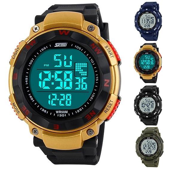Marca Beauty regalo relojes para hombre reloj Digital Skmei 50 m lámpara Led buceo de natación