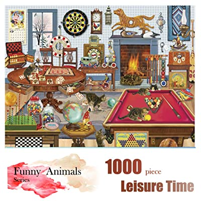 Animal Puzzle for Adults - Jigsaw Puzzles 1000 Pieces for Adults and Rompecazas for Adults, Ideal Gift for Kids, Teens and Family (Leisure Time Puzzle): Toys & Games