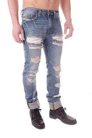f2e0c3ce Diesel Thavar 0846y Men's Jeans Trousers Slim Skinny: Amazon.co.uk: Clothing
