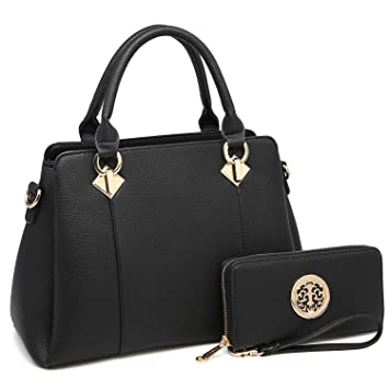 85807363ad4458 Amazon.com: MK Belted collection Fashion Hobo Handbag for Women~2 PCS  Women's Tote Bag Satchel Handbag Shoulder Bags W coin purse  (8013-Black/Black): Marco ...
