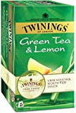 Twinings Green Tea and Lemon, 25 Tea Bags (with Uber Voucher Worth Rupees 100)