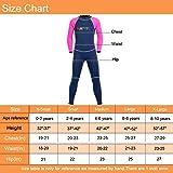 NATYFLY Neoprene Wetsuits for Kids Boys Girls Back