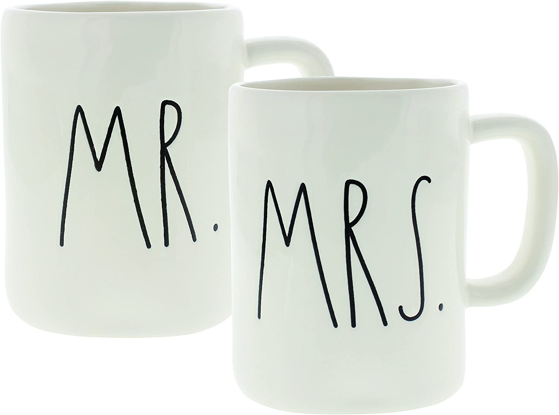 RAE DUNN WEDDING MUG MR MRS HUBBY I DO JUST MARRIED CHOOSE