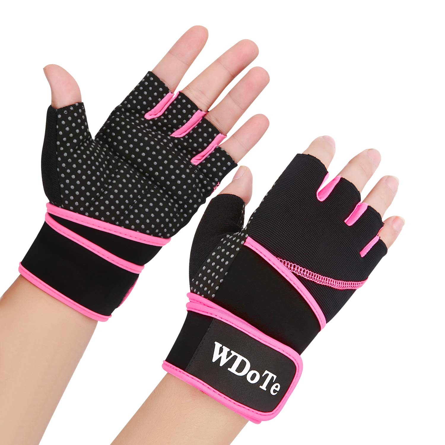 Weight Lifting Gloves, Gym Workout Gloves with 18'' Wrist Support/Palm Gel Padded/Grip for Women Men Training, Crossfit, Fitness 3 Colors XS-L (Pair)