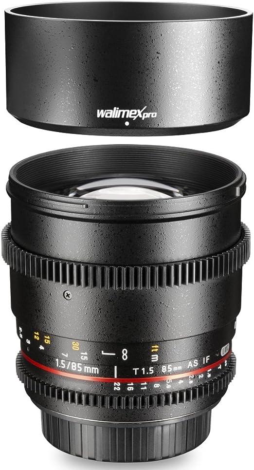 Walimex Pro 19449 - Objetivo de Foto y vídeo para Montura Canon EF ...