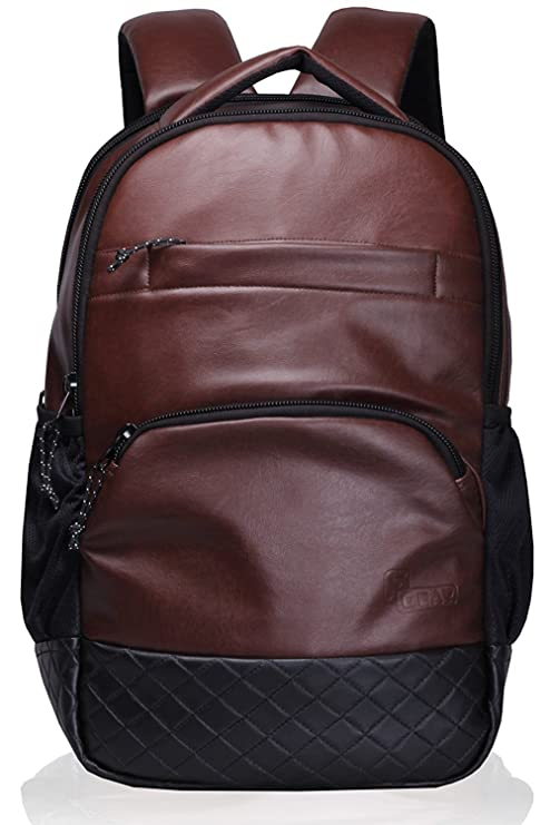 8837e683c1 Image Unavailable. Image not available for. Color  stylish Genuine Leather  Backpack Laptop Bag Travel Rucksack Schoolbag Shoulder Daypack for Men