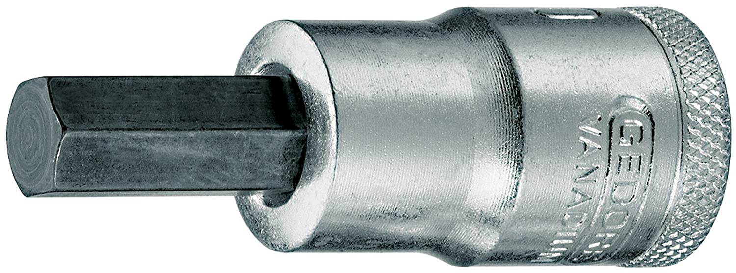 Gedore IN194 1/2 4.0 x 60 mm 6 Hex Screws Screwdriver Bit Socket - Silver