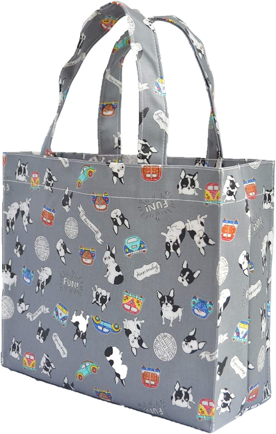 Lunch Bag Gym bag PVC-coated Tote Bags Oilcloth tote Shopping Bag Small Bookbag Tote Bag