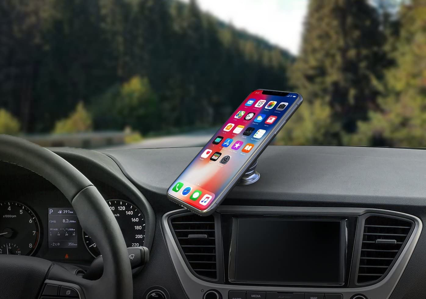 Foster Gadgets Magnetic Phone Holder for Car Dashboard Car Phone Mount with a Super Strong Magnet