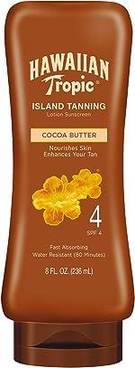 Hawaiian Tropic Sunscreen Protective Dark Tannning Sun Care Sunscreen Lotion, Cocoa
