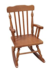Gift Mark Child's Colonial Rocking Chair, Honey