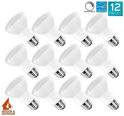 12 pack br20 led bulb luxrite 45w equivalent 3000k soft white