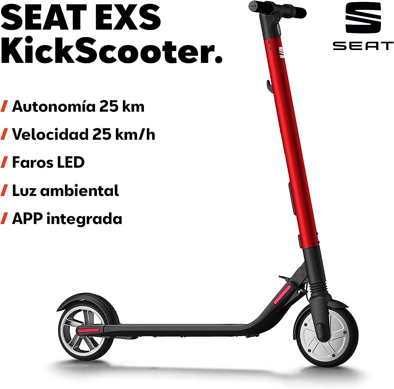SEAT EXS KickScooter - Patinete eléctrico 25km/h, 12,5kg, 300W ...