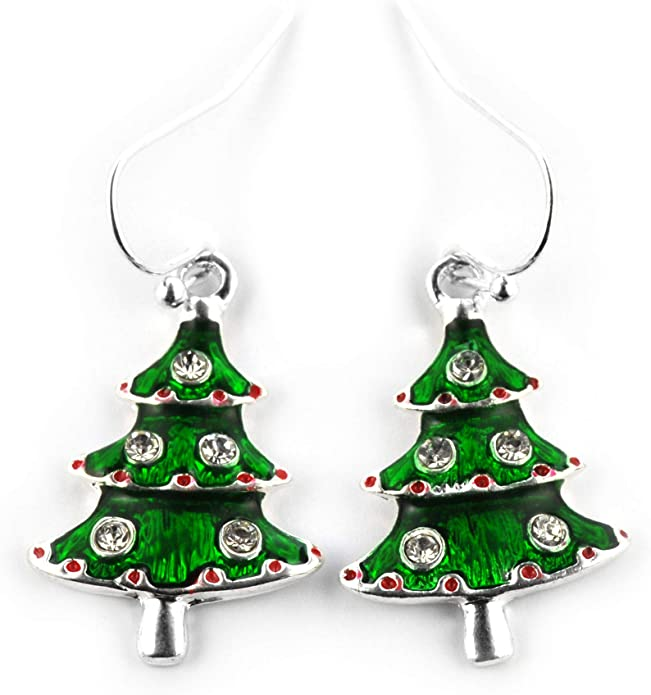 Weihnachtsmann Nikolaus Ohrstecker 925 Silber Ohrringe Kinder Geschenkidee Z-53
