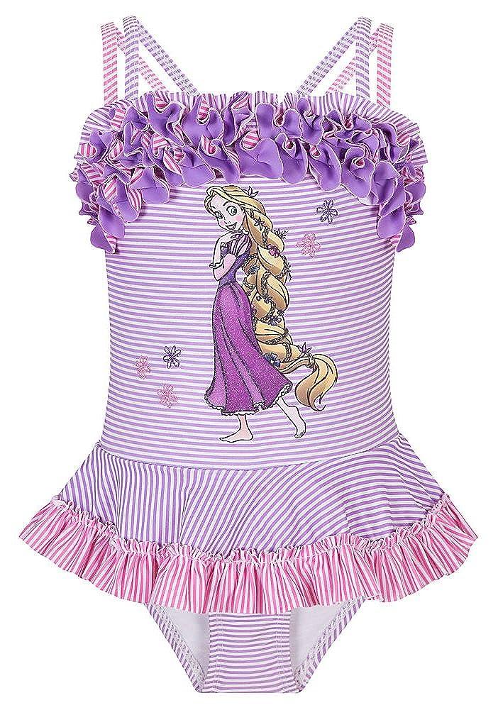 Store Rapunzel Swimsuit: Costumi da Bagno Deluxe a 1 Pezzo per Ragazze Giovani Taglia XXS 2/3