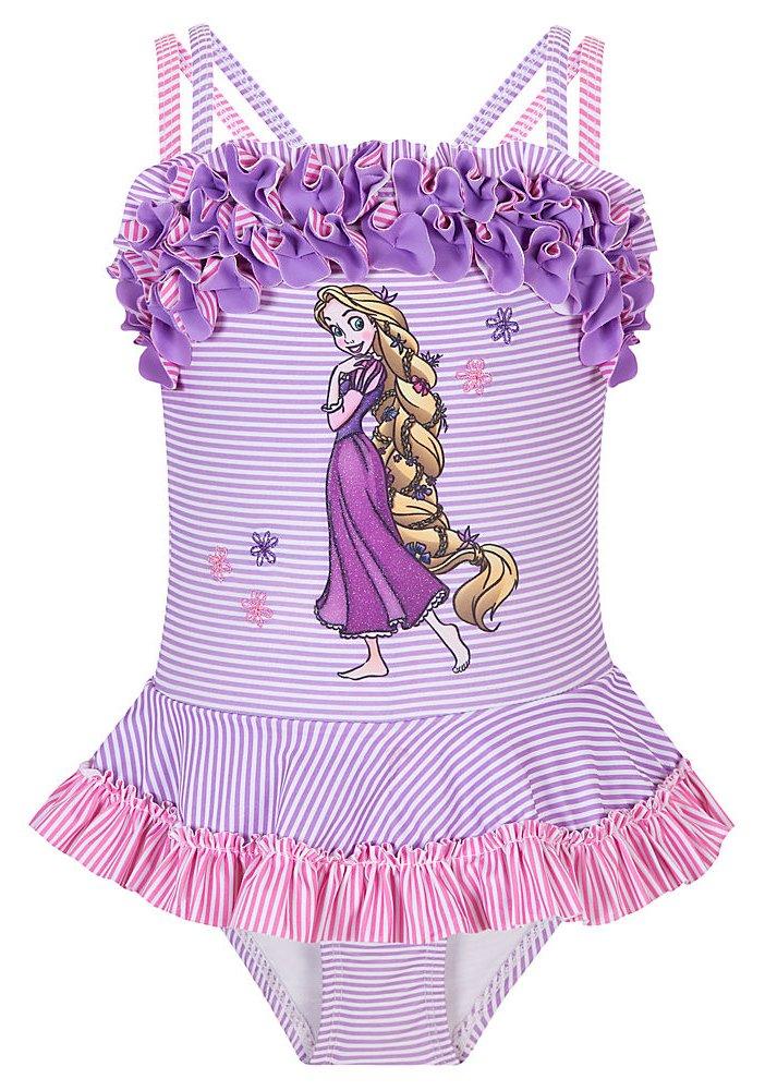 Disney Store Rapunzel Swimsuit: Deluxe 1-Piece Swimwear for Youth Girls Size XXS 2/3