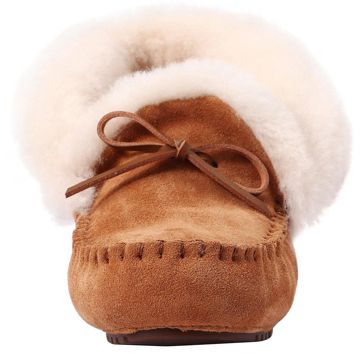 7b694abf191 U-lite Women s Teplý vlněný venkovní kožich U-lite Příležitostná ženy zima  Ploché vnitřní a venkovní Loafer