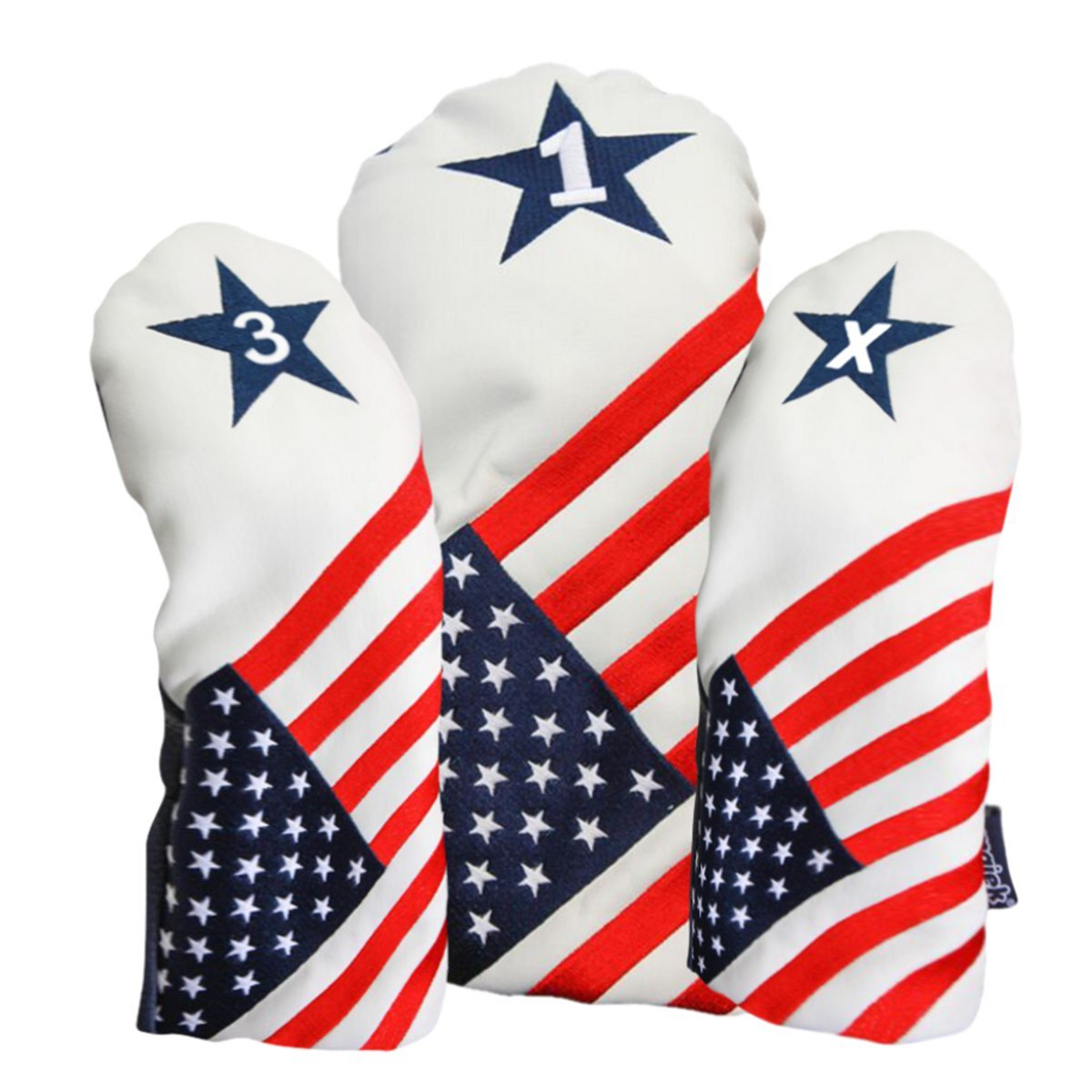 USA 1 3 X Golf Headcover Patriot Vintage Retro Patriotic Driver Fairway Wood Head Cover by Majek USA Vintage Golf Driver Headcover (Image #2)