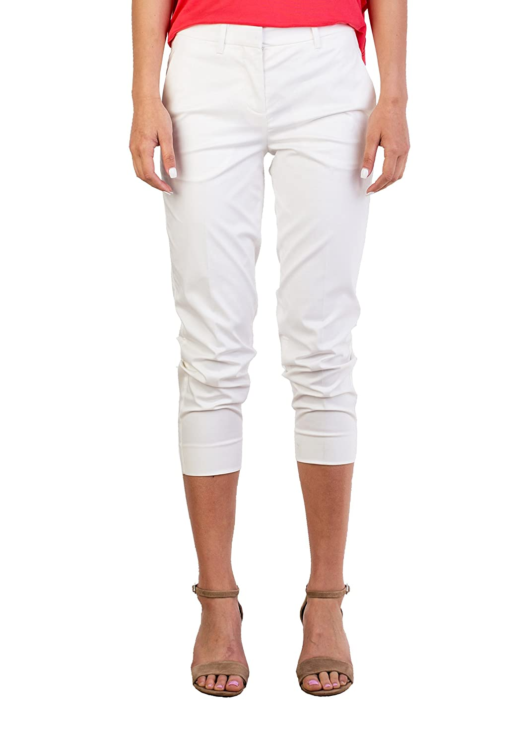 MIU MIU Women's Cotton Trouser Pants Cream White
