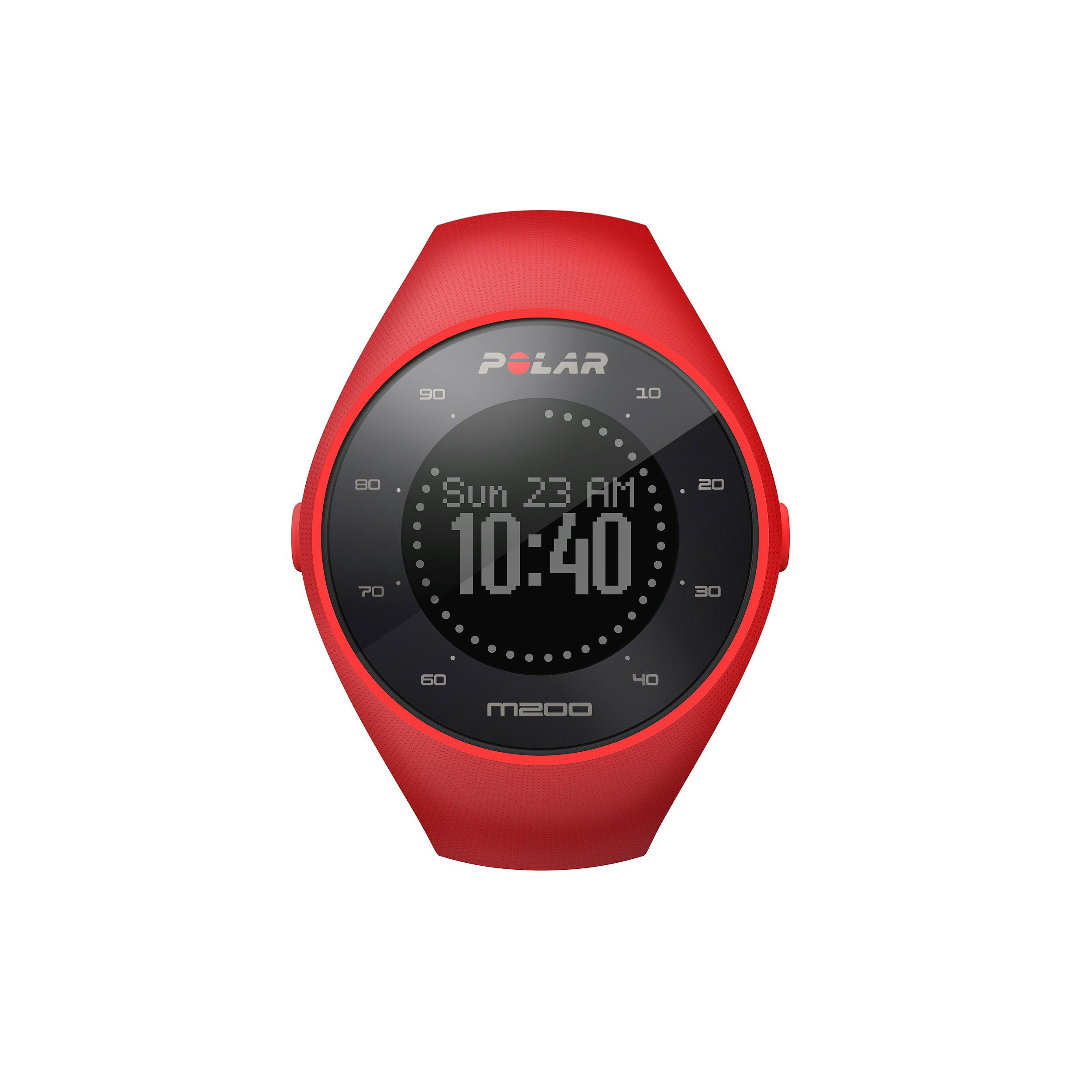 Polar M200 GPS Running Watch with Wrist-Based Heart Rate, Red, Medium/Large by Polar