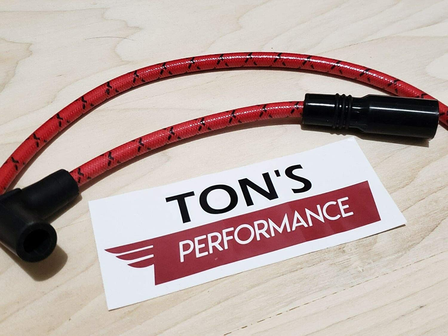 Harley Davidson Big Twin 99-19 FXD Dyna Softail Spark Plug Wires Red Black ClothQuality Accessories for Motorcycle Car Tuning by Tuning/_Store