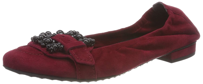 Kennel Geschlossene und Schmenger Damen Malu Geschlossene Kennel Ballerinas Rot (Rubino/schwarz 484) 41c400