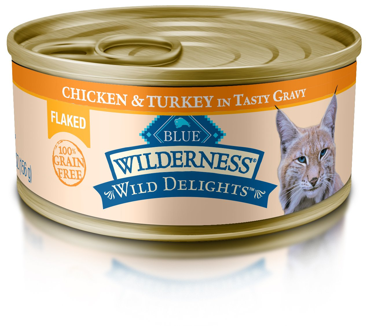 Blue Wilderness Wild Delights Adult Grain Free Flaked Chicken & Turkey In Tasty Gravy Wet Cat Food 5.5-Oz (Pack Of 24) by Blue Buffalo