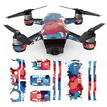 YUYOUG Drone Stickers, Impermeable Pegatina Skins Wrap Cuerpo ...