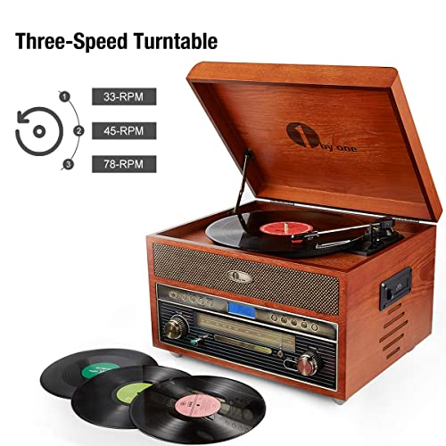1 byone Nostalgic wooden Turntable review