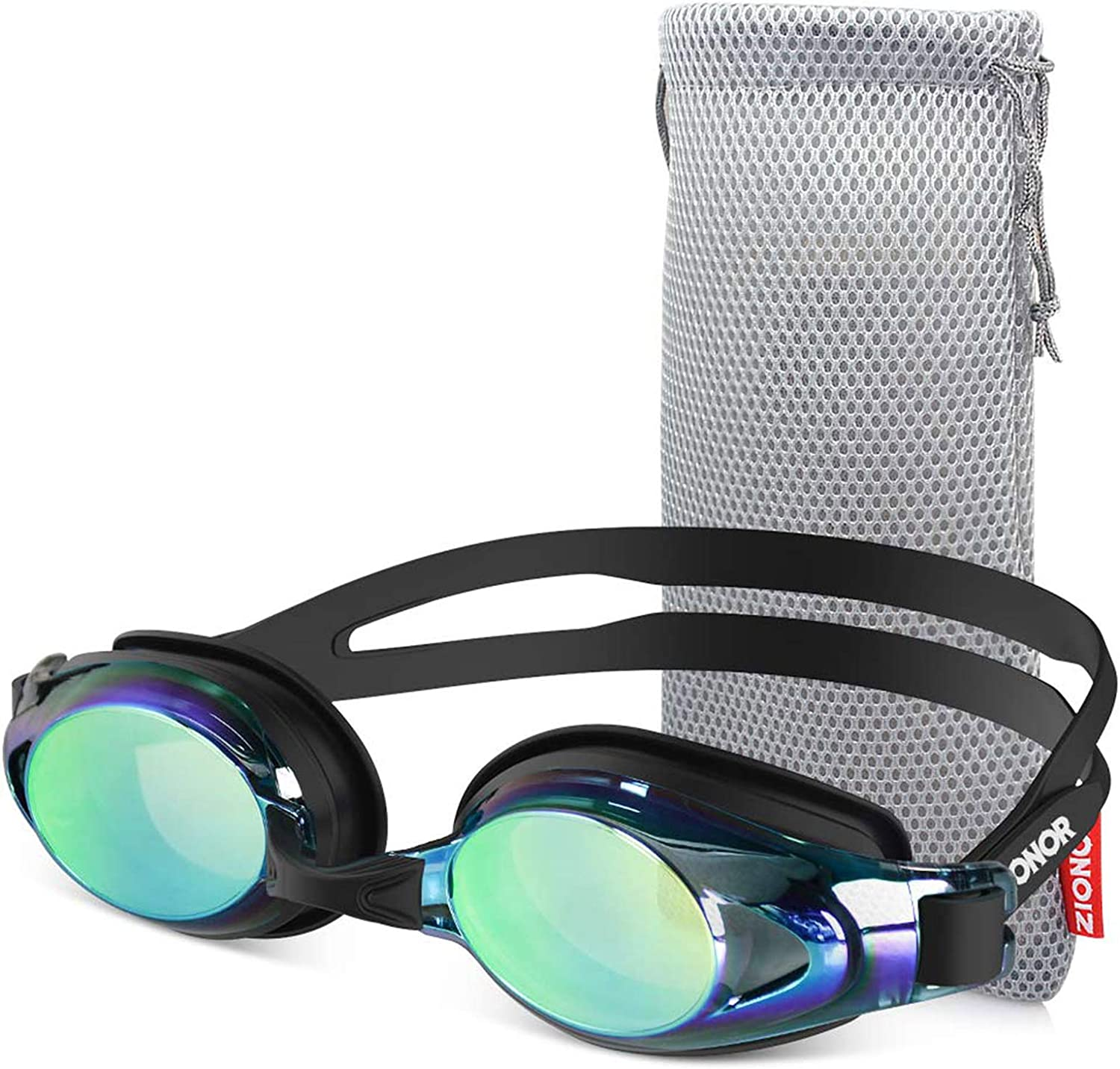 ZIONOR Swim Goggles, Upgrade G8 Swimming Goggles for Adult Men Women Youth, UV Protection Anti-Fog Leakproof (Black Frame Gold Lens) : Sports & Outdoors